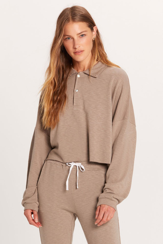 Collared Cozy Sweatshirt