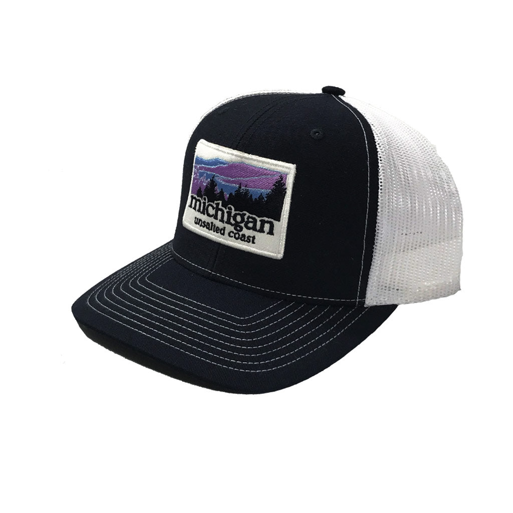 Trucker Hat Landscape Navy Blue
