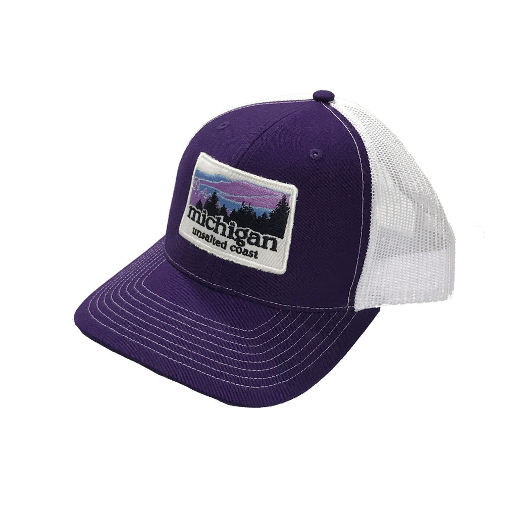 Trucker Hat Landscape Purple