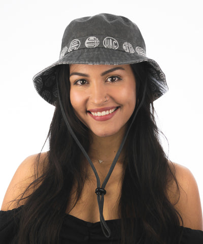 Chinstrap bucket hat