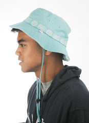 Logo chinstrap bucket hat
