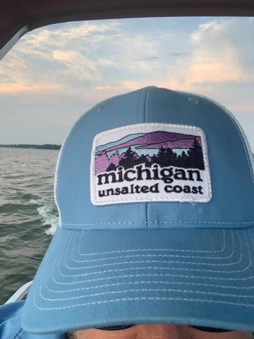 Trucker Hat Landscape Columbia Blue