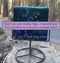 Aquarius Constellation - Zodiac Sign - Fused Glass