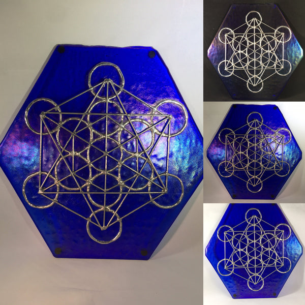 Metatron's Cube - Fused Glass & Copper