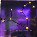 Leo Constellation - Zodiac Sign - Fused Glass