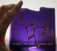 Orion Constellation - Zodiac Sign - Fused Glass
