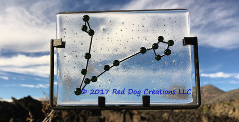 Pisces Constellation - Zodiac Sign - Fused Glass