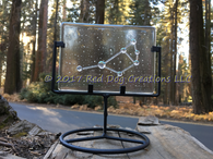 Pleiades Constellation - Zodiac Sign - Fused Glass