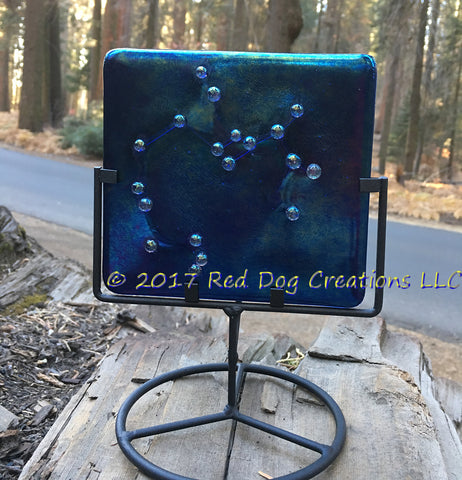 Sagittarius Constellation - Zodiac Sign - Fused Glass