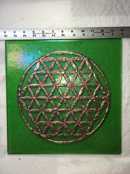 Flower of Life - Fused Glass and Copper Foil