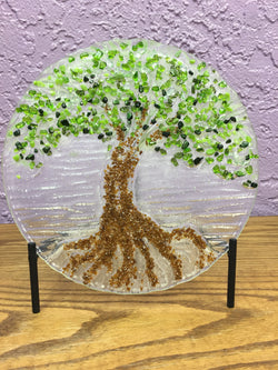 "Tree of Life 9"" Art Glass"