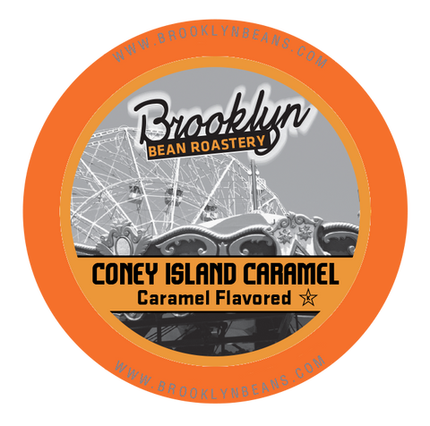 Brooklyn Bean Coney Island Caramel Flavored Coffee - K-cup 2.0 Compatible