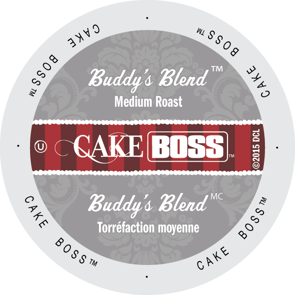 Cake Boss Buddy's Blend coffee, k-cup 2.0 compatible