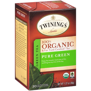 Twinings Of London, Organic Pure Green Tea