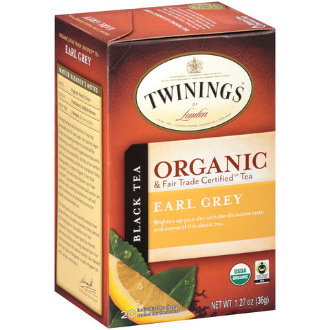 Twinings Of London, Organic Earl Grey Tea
