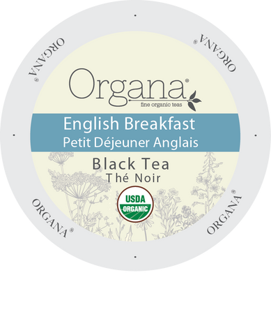 Organa Tea - English Breakfast Tea, K-cup 2.0 compatible  24 Count Sleeve