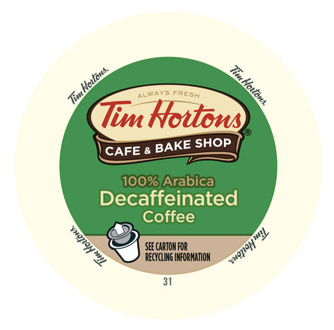 Tim Horton's DECAF Original coffee, k-cup 2.0 compatible