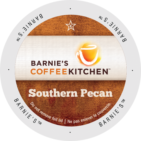 Barnies Coffee Kitchen Southern Pecan flavored coffee, k-cup 2.0 compatible
