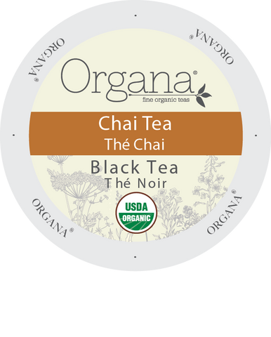 Organa Tea - Chai TEA, K-cup 2.0 compatible  24 Count Sleeve