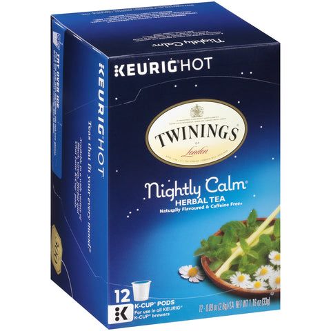 Twinings of London, Nightliy Calm, K-cup (12 Count)