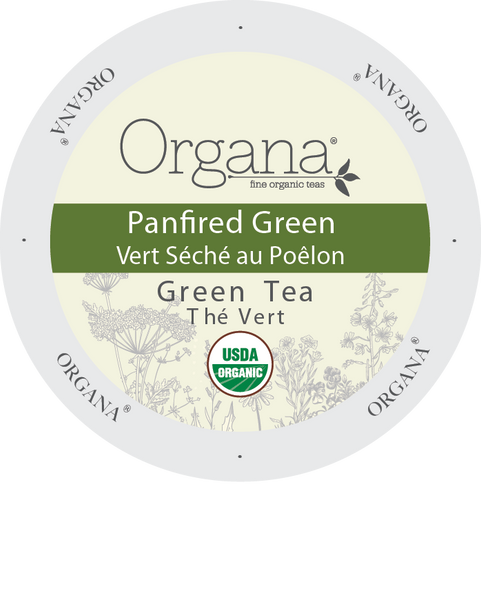 Organa Tea - Pan Fired Green, K-cup 2.0 compatible  24 Count Sleeve