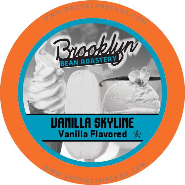 Brooklyn Bean Vanilla Skyline Caramel Flavored Coffee - K-cup 2.0 Compatible