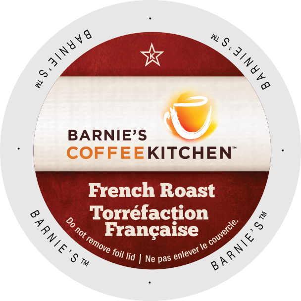 Barnie's Coffee  Rainforest Alliance French Roast coffee, k-cup 2.0 compatible