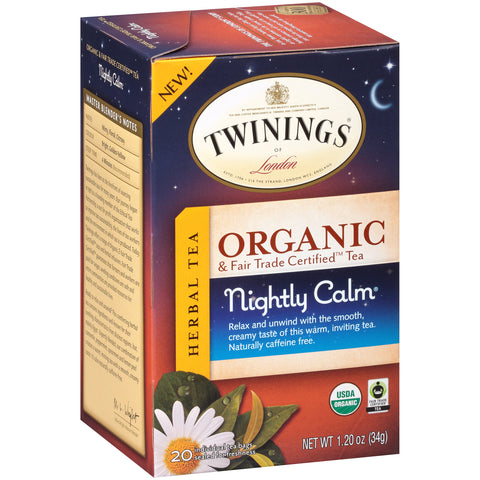 Twinings of London, Nightly Calm - Organic Camomile, Mint and Lemon Tea bag