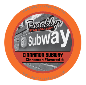 Discounted - Brooklyn Bean Cinnamon Subway Flavored Coffee - K-cup 2.0 Compatible (19 Cups)