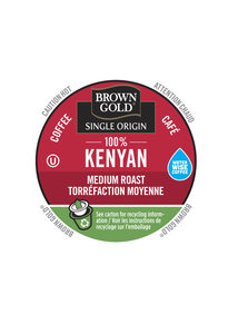 Brown Gold 100% Kenyan, k-cup 2.0 compatible