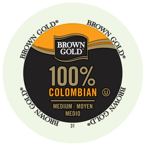 Brown Gold 100% Colombia, k-cup 2.0 compatible