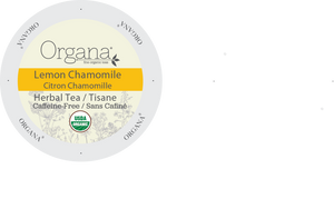 Organa Tea - LEMON CHAMOMILE TEA, K-cup 2.0 compatible  24 Count Sleeve