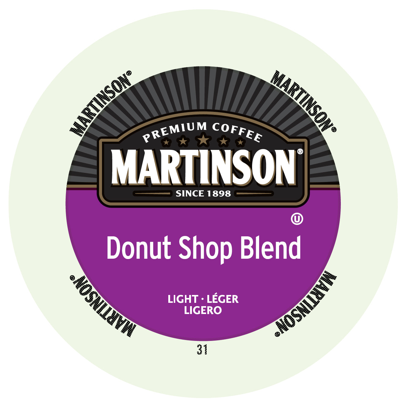 Martinson Donut Shop coffee, k-cup 2.0 compatible