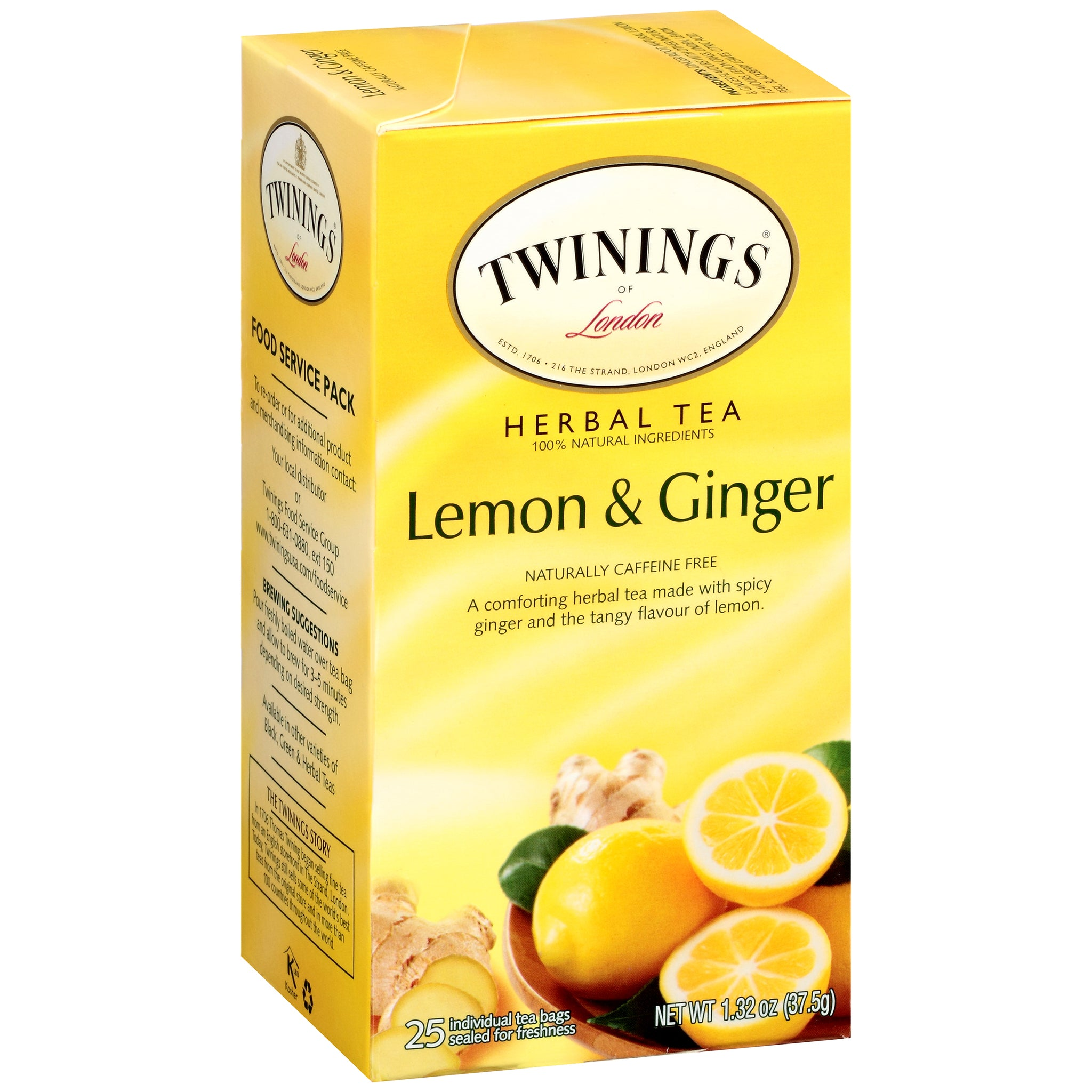 Twinings Of London, Lemon and Ginger Tea