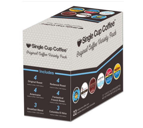 Single Cup Coffee - Sampler, K-cup 2.0 compatible , 22 Count