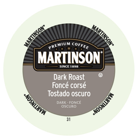 Martinson Dark Roast coffee, k-cup 2.0 compatible