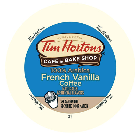 Tim Hortons French Vanilla flavored coffee, k-cup 2.0 compatible