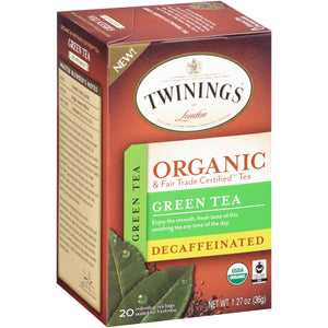 Twinings of London, Organic DECAF Green Tea