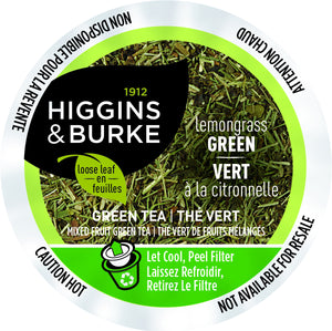 Higgins and Burke Green Tea, k-cup compatible