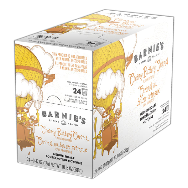 Barnies Creamy Buttery Caramel Coffee, K-cup 2.0 Compatible - 24 Count