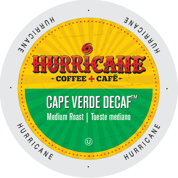 Hurricane Coffee DECAF Cape Verde coffee, k-cup 2.0 compatible