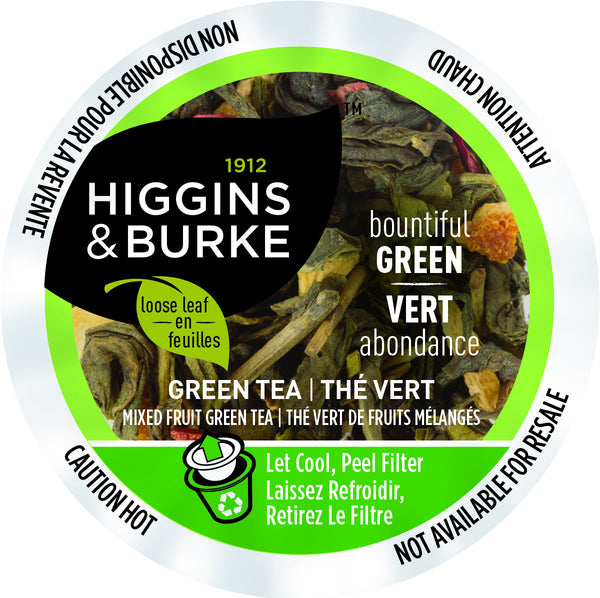 Higgins and Burke Bountiful Green Tea, k-cup 2.0 compatible (Tame Dragon)