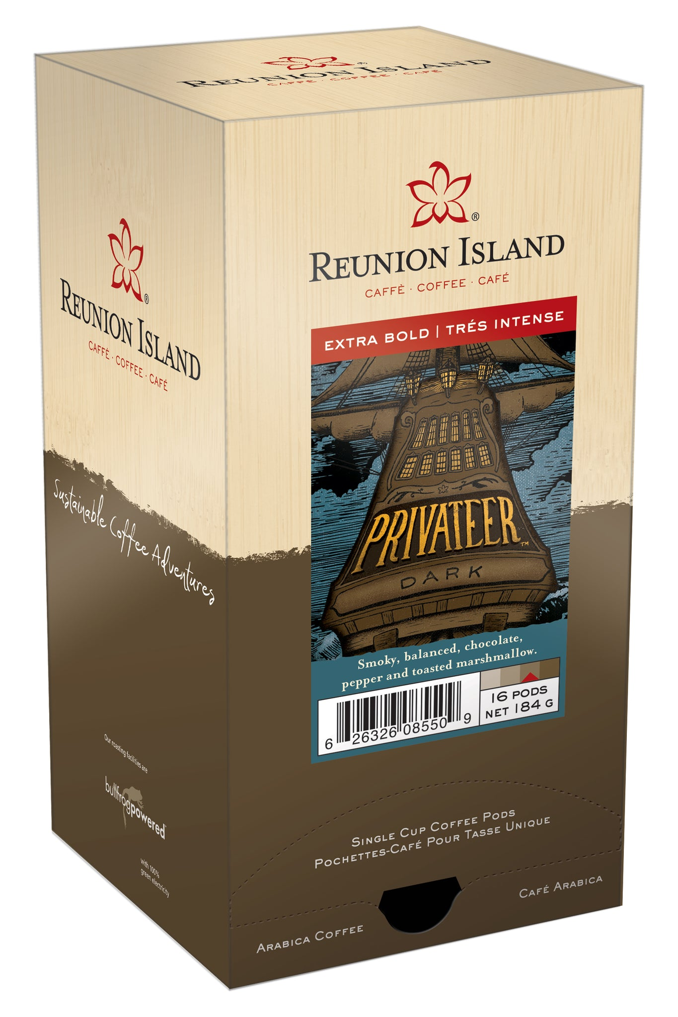Reunion Island Coffee Pods -Privateer Dark - 11grams