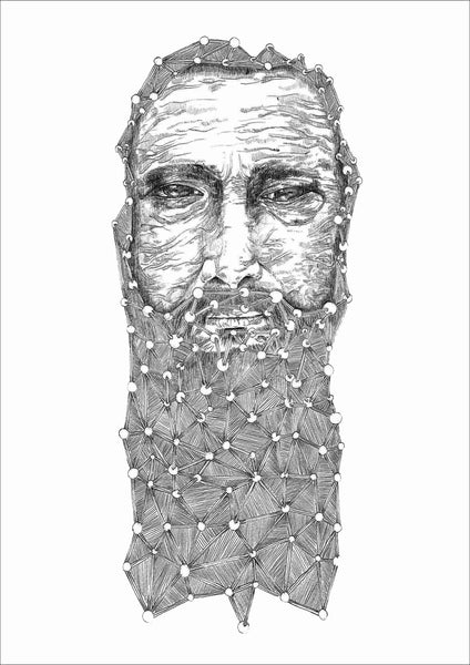 Illustration 'Beard' by Yassine Mourit
