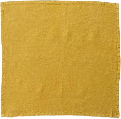 SIMPLE LINEN NAPKINS MUSTARD