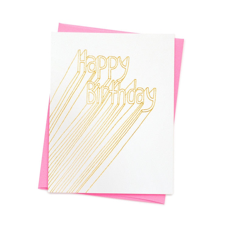 HAPPY BIRTHDAY LINES CARD