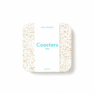 RUBBER COASTERS WHITE