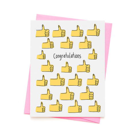 CONGRATULATIONS THUMBS UP CARD