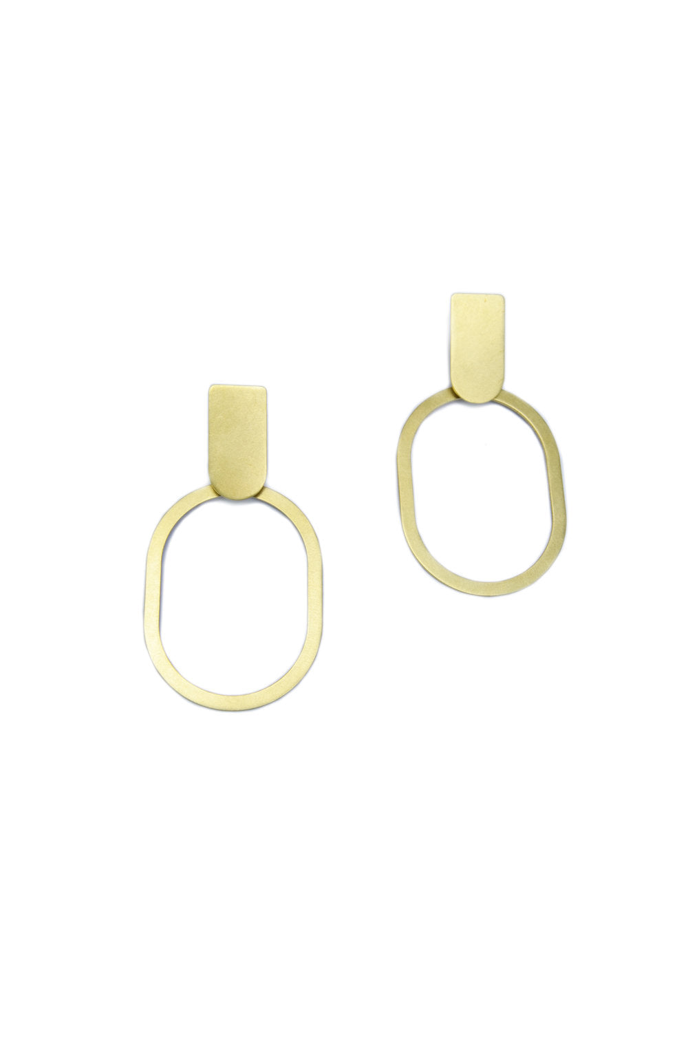 SOLID ARC AND OVAL EARRINGS