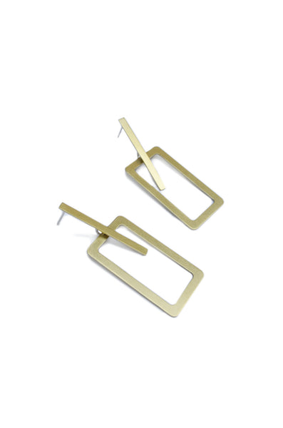 RECTANGLE INTERSECTION EARRINGS